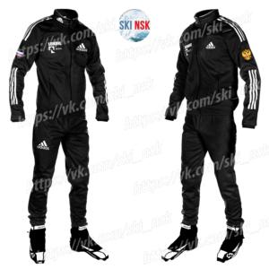 Разминочный костюм Adidas чёрный