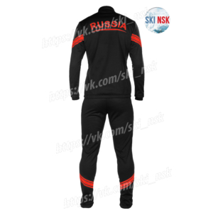 Разминочный костюм SKINSK чёрно-красный