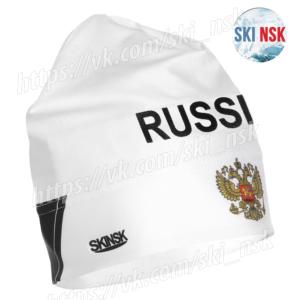 Шапка лайкра-флис белая SkiNsk