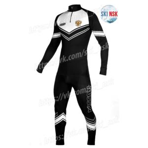 Гоночный костюм SkiNsk черно-белый