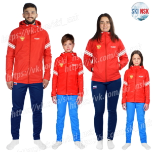 Куртка на флисе SkiNsk красная