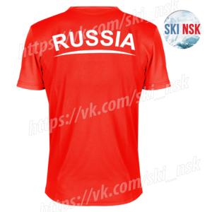 Футболка красная SkiNsk
