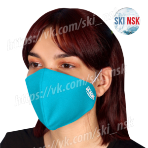 Защитная маска голубая SkiNsk