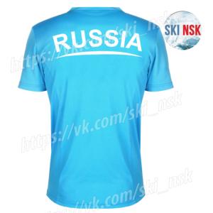 Футболка SkiNsk голубая