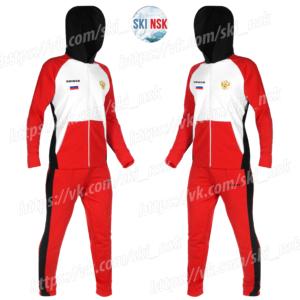 Спортивный костюм красный SkiNsk