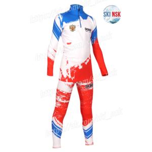 Гоночный костюм SkiNsk разброс цвета красный