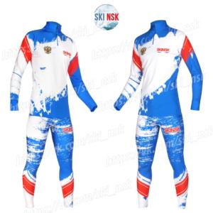 Гоночный костюм SkiNsk разброс цвета голубой