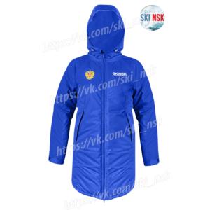 Куртка синтепоновая удлиненная SkiNsk синяя тёплая